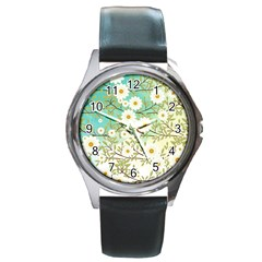 Springtime Scene Round Metal Watch by linceazul