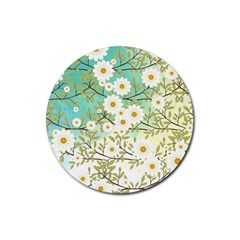 Springtime Scene Rubber Round Coaster (4 Pack)  by linceazul