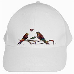 Birds Abstract Exotic Colorful White Cap by Nexatart