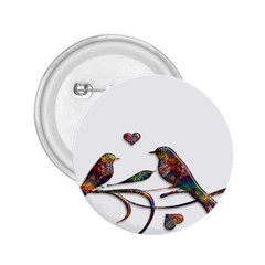 Birds Abstract Exotic Colorful 2 25  Buttons by Nexatart