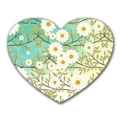 Springtime Scene Heart Mousepads by linceazul