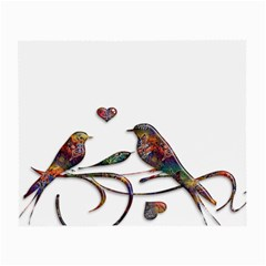 Birds Abstract Exotic Colorful Small Glasses Cloth by Nexatart