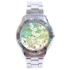 Springtime Scene Stainless Steel Analogue Watch by linceazul