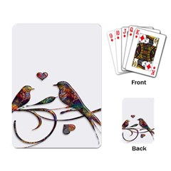 Birds Abstract Exotic Colorful Playing Card