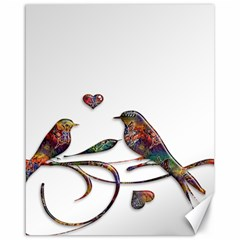 Birds Abstract Exotic Colorful Canvas 16  X 20