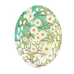 Springtime Scene Oval Filigree Ornament (two Sides) by linceazul