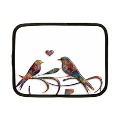 Birds Abstract Exotic Colorful Netbook Case (small)  by Nexatart