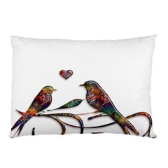 Birds Abstract Exotic Colorful Pillow Case by Nexatart