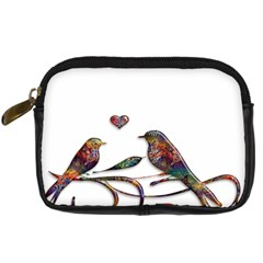 Birds Abstract Exotic Colorful Digital Camera Cases by Nexatart