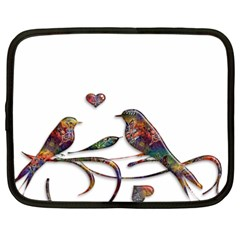 Birds Abstract Exotic Colorful Netbook Case (xxl)