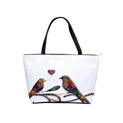 Birds Abstract Exotic Colorful Shoulder Handbags by Nexatart