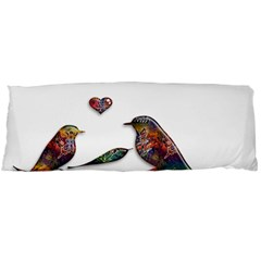 Birds Abstract Exotic Colorful Body Pillow Case Dakimakura (two Sides) by Nexatart