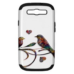 Birds Abstract Exotic Colorful Samsung Galaxy S Iii Hardshell Case (pc+silicone) by Nexatart