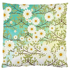 Springtime Scene Large Flano Cushion Case (one Side) by linceazul