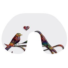 Birds Abstract Exotic Colorful Travel Neck Pillows