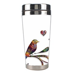 Birds Abstract Exotic Colorful Stainless Steel Travel Tumblers by Nexatart
