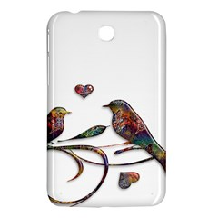 Birds Abstract Exotic Colorful Samsung Galaxy Tab 3 (7 ) P3200 Hardshell Case