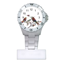 Birds Abstract Exotic Colorful Plastic Nurses Watch by Nexatart