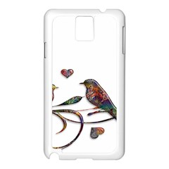 Birds Abstract Exotic Colorful Samsung Galaxy Note 3 N9005 Case (white) by Nexatart
