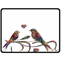 Birds Abstract Exotic Colorful Double Sided Fleece Blanket (large)  by Nexatart