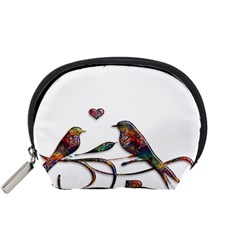 Birds Abstract Exotic Colorful Accessory Pouches (small)