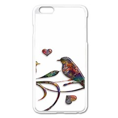 Birds Abstract Exotic Colorful Apple Iphone 6 Plus/6s Plus Enamel White Case