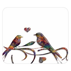 Birds Abstract Exotic Colorful Double Sided Flano Blanket (small)  by Nexatart