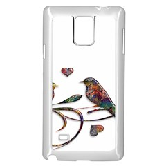 Birds Abstract Exotic Colorful Samsung Galaxy Note 4 Case (white)