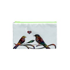 Birds Abstract Exotic Colorful Cosmetic Bag (xs)