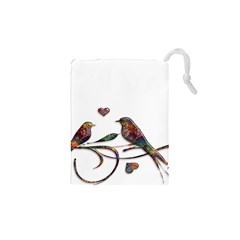 Birds Abstract Exotic Colorful Drawstring Pouches (xs)