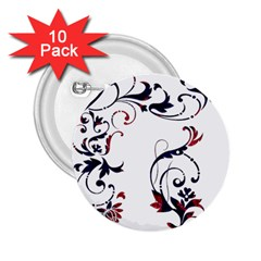 Scroll Border Swirls Abstract 2 25  Buttons (10 Pack)