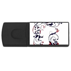 Scroll Border Swirls Abstract Usb Flash Drive Rectangular (4 Gb) by Nexatart