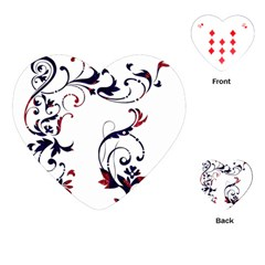 Scroll Border Swirls Abstract Playing Cards (heart)  by Nexatart