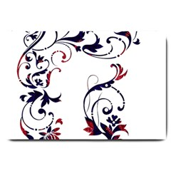 Scroll Border Swirls Abstract Large Doormat  by Nexatart