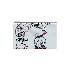 Scroll Border Swirls Abstract Cosmetic Bag (small)  by Nexatart
