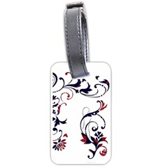 Scroll Border Swirls Abstract Luggage Tags (two Sides)