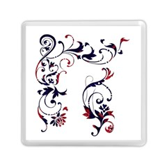 Scroll Border Swirls Abstract Memory Card Reader (square)  by Nexatart