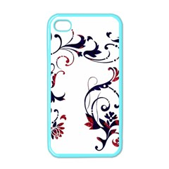 Scroll Border Swirls Abstract Apple Iphone 4 Case (color) by Nexatart