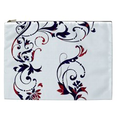Scroll Border Swirls Abstract Cosmetic Bag (xxl)  by Nexatart