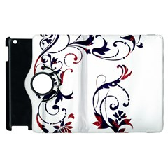 Scroll Border Swirls Abstract Apple Ipad 3/4 Flip 360 Case