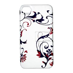 Scroll Border Swirls Abstract Apple Iphone 4/4s Hardshell Case With Stand by Nexatart