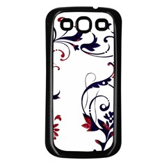 Scroll Border Swirls Abstract Samsung Galaxy S3 Back Case (black) by Nexatart