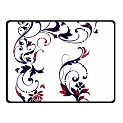 Scroll Border Swirls Abstract Double Sided Fleece Blanket (small)  by Nexatart