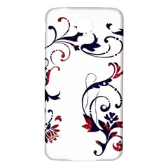 Scroll Border Swirls Abstract Samsung Galaxy S5 Back Case (white) by Nexatart