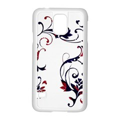 Scroll Border Swirls Abstract Samsung Galaxy S5 Case (white) by Nexatart