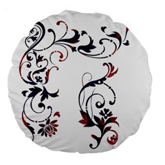 Scroll Border Swirls Abstract Large 18  Premium Flano Round Cushions by Nexatart