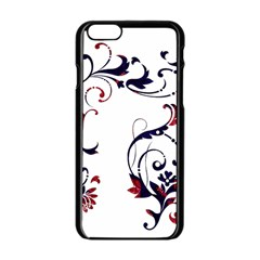 Scroll Border Swirls Abstract Apple Iphone 6/6s Black Enamel Case by Nexatart