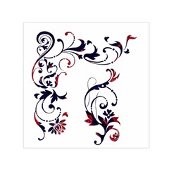 Scroll Border Swirls Abstract Small Satin Scarf (square)