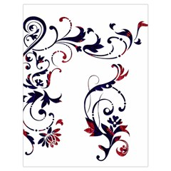 Scroll Border Swirls Abstract Drawstring Bag (large) by Nexatart