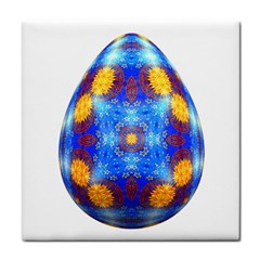 Easter Eggs Egg Blue Yellow Tile Coasters by Nexatart
